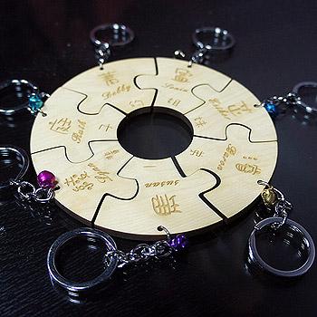 外型切割鑰匙圈-特殊造型